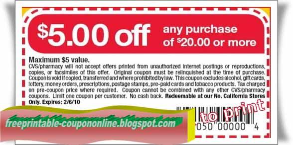 Cvs coupons photos printable