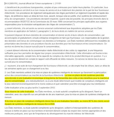 Annexe 1 de la directive européenne
