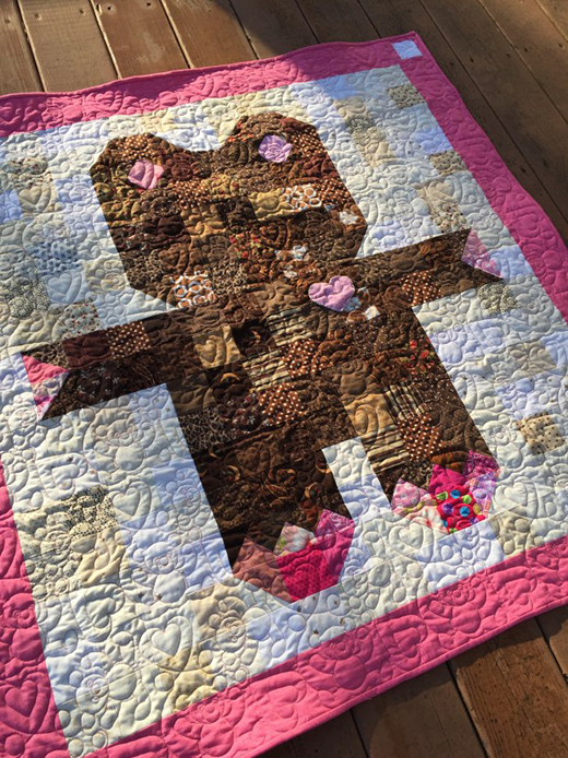 Roly Poly Teddy Bear Quilt designed by Sandra Dennison from Gray Barn Designs