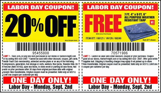 Harbor Freight 20 Off Coupon Harbor Freight Coupon Codes 10 2014