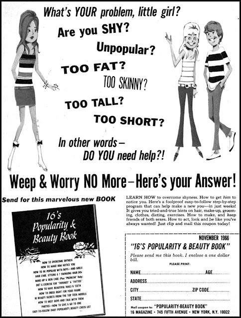 Teen magazine ad -- Popularity book