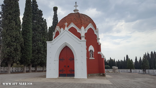 French chapel and cemetery - Zeitinlik military cemetery in Thessaloniki, Greece