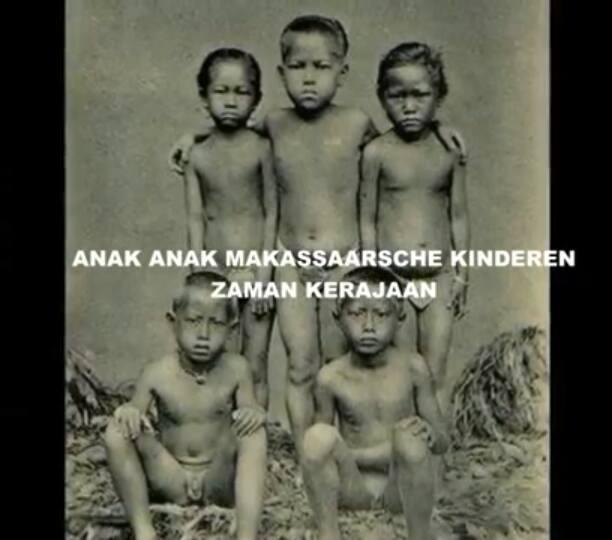 Anak-anak Makassaarche Kinderen Zaman Kerajaan