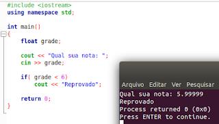 IF e ELSE em C++
