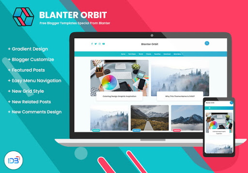 Blanter Orbit Free Blogger Template
