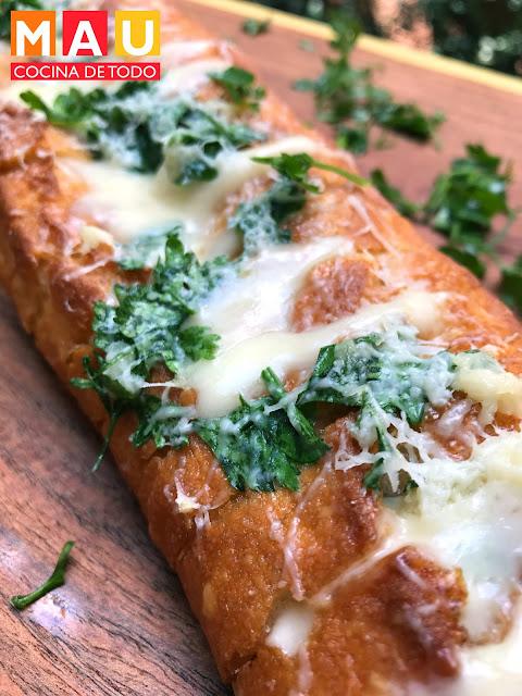 mau cocina de todo pan con ajo y queso receta facil