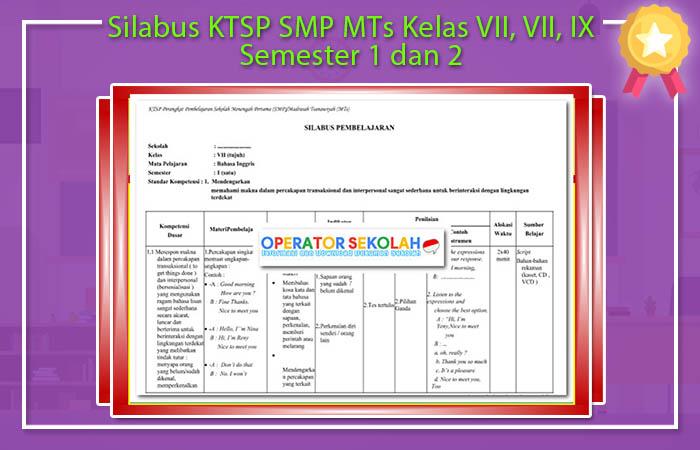 Silabus KTSP SMP