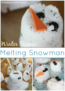 http://littlebinsforlittlehands.com/snowman-baking-soda-science-activity-melting-snowman-sensory-play/
