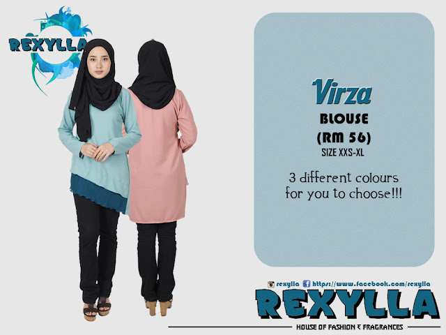 rexylla, blouse, pleats design, virza collection