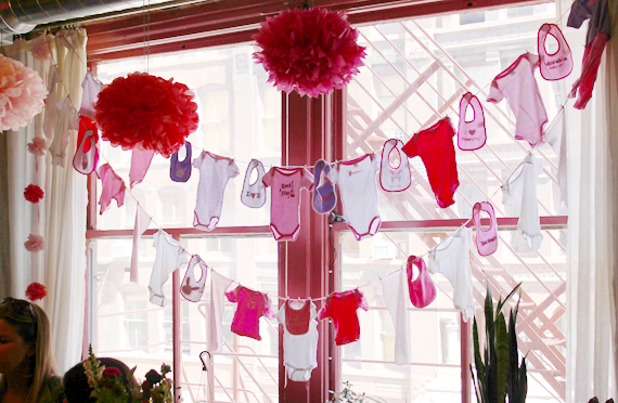 DIY Baby Shower Clothesline // via Bubby and Bean