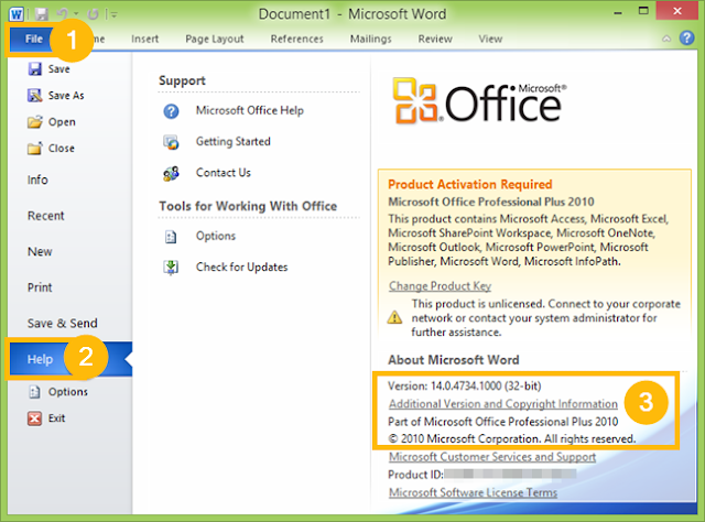 cara melihat versi microsoft office di windows 10