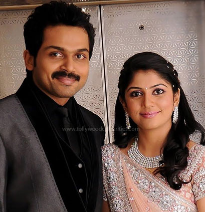 Karthi and his wife: