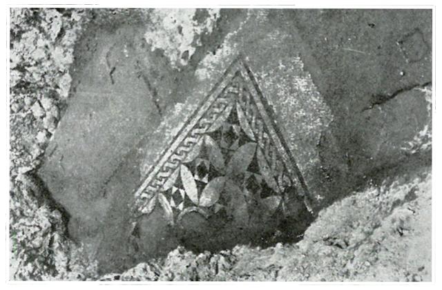 Mosaico decorado con rosáceas de la villa romana de Martos