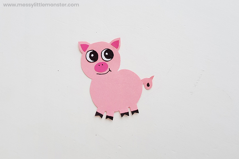 farm animal pig paper craft