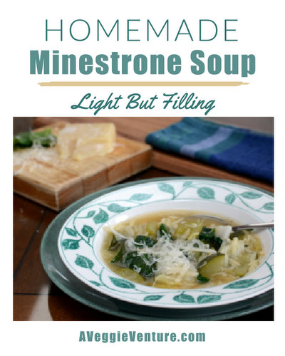 Homemade Minestrone Soup, another light but filling soup ♥ AVeggieVenture.com.