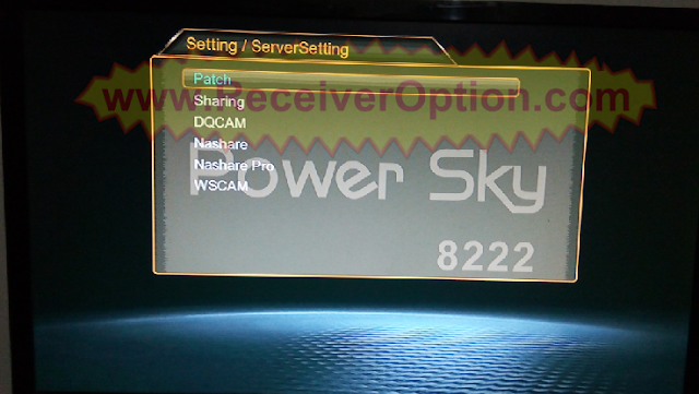 POWER SKY 8222 1507G 1G 8M NEW SOFTWARE WITH ECAST & DLNA OPTION