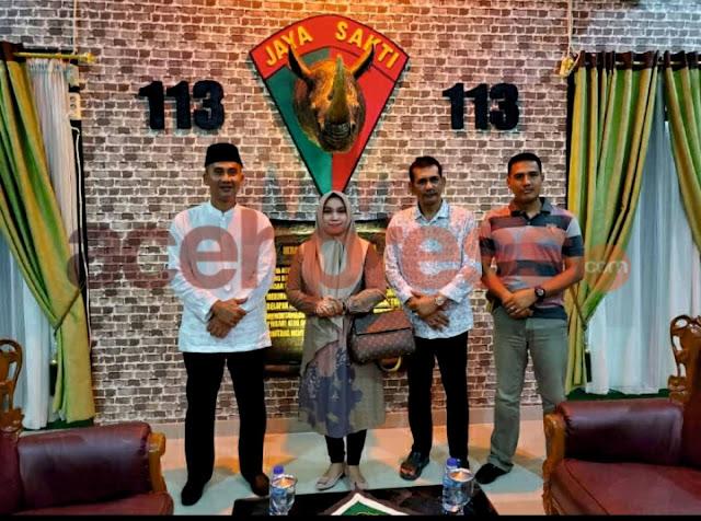 Pengusaha Nasional asal Aceh Hj Rizayati Gelar Silaturrahmi dengan Kajari, Danyonif RK 113/JS, Dandim 0111 dan Kapolres Bireuen, Ini Tujuannya