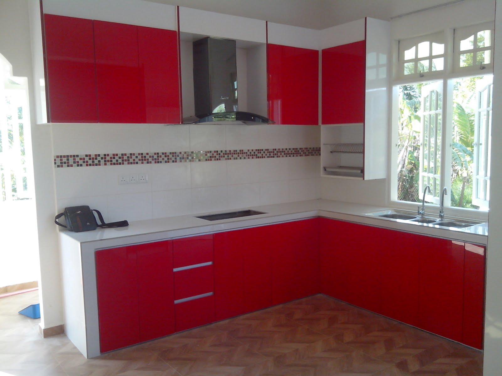 Kabinet Dapur Rumah Banglo Kelantan Murah 3g 4g Moden Kayu Aluminium