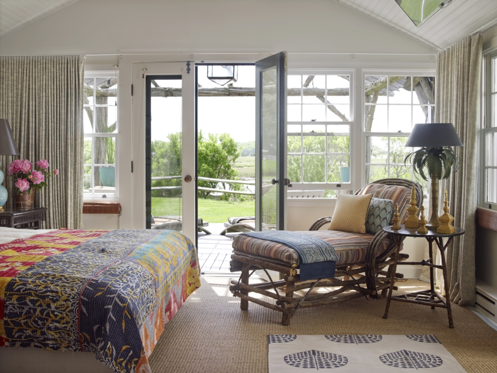 Inspiring image of a beautiful cottage style bedroom in beach house in the Hamptons - found on Hello Lovely Studio