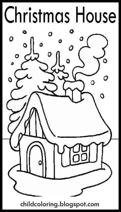 Christmas House Drawing.Christmas Drawings Christmas House Coloring Child Coloring