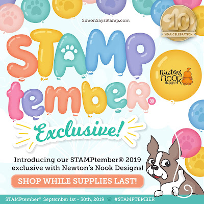 STAMPtember Exclusive: Let's Pawty Dog and Cat Birthday Stamp Set by Newton's Nook Designs #newtonsnook #handmade