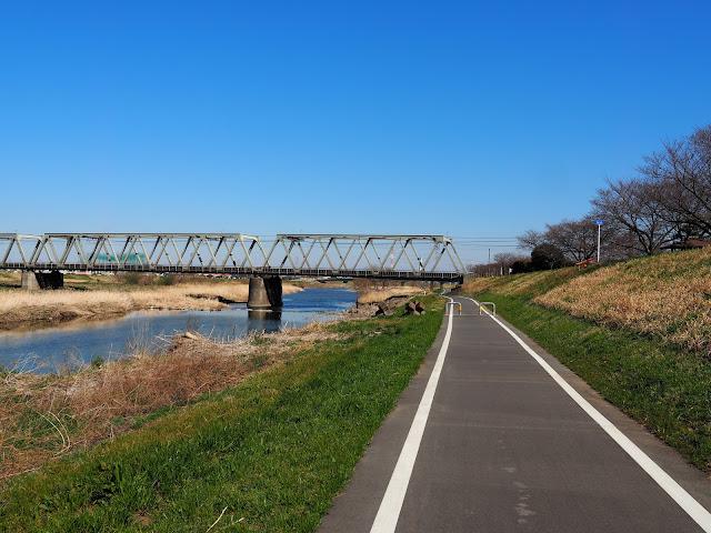 入間川自転車道 東武東上線
