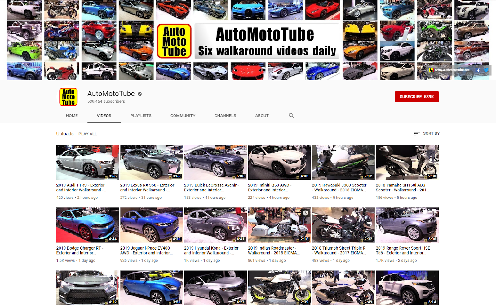 AutoMotoTube YouTube .net