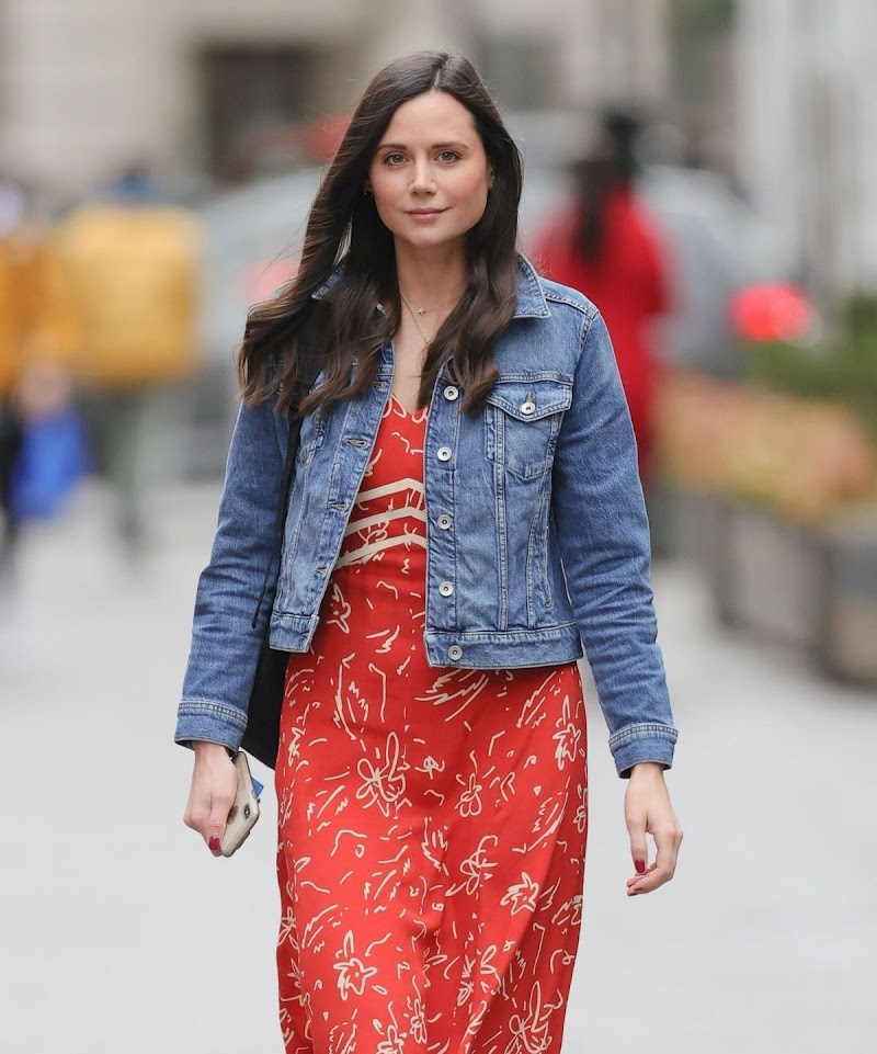 Lilah Parsons Spotted At  Heart Radio Studios in London 16 APr-2021