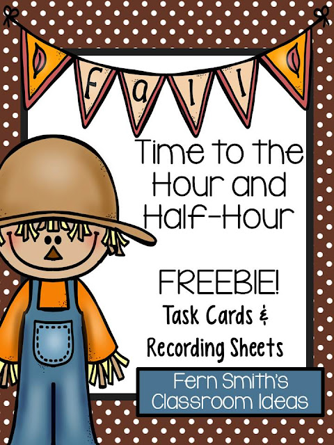 Fern Smith's Classroom Ideas Free Fall Themed Time Flash Cards at TeacherspayTeachers.