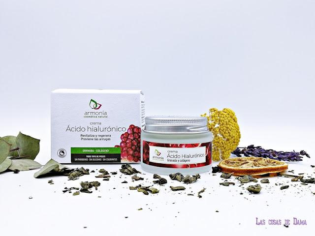 Crema Ácido Hialurónico Armonía Cosmética Natural facial cremas beauty belleza skincare reciclar