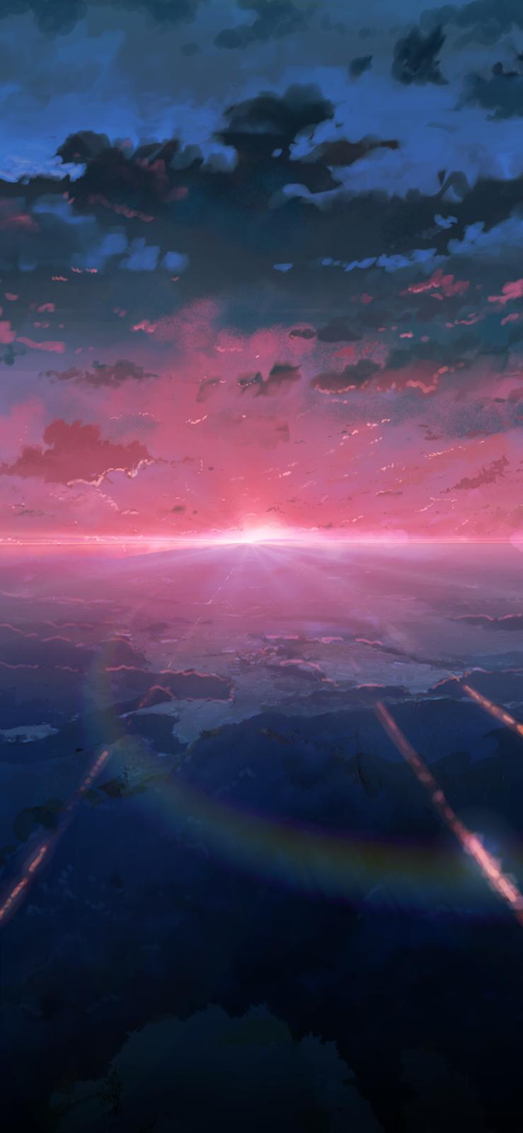 Hình nền bầu trời đầy sắc màu cho iPhone XSMAX