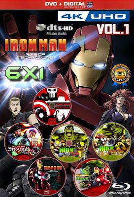 Vengadores En Acción 6X1 COMBO DVD HD LATINO