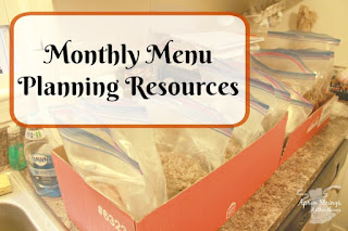 Monthly Menu Planning Resources, One of my favorites this week at Encouraging Hearts and Home, link-up your creations, right here at Scratch Made Food! & DIY Homemade Household!