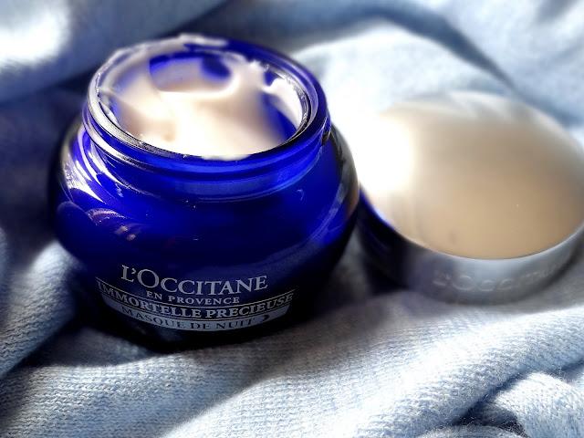 L'Occitane Immortelle Precious Overnight Mask Review, photos