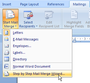 membuat mail merge