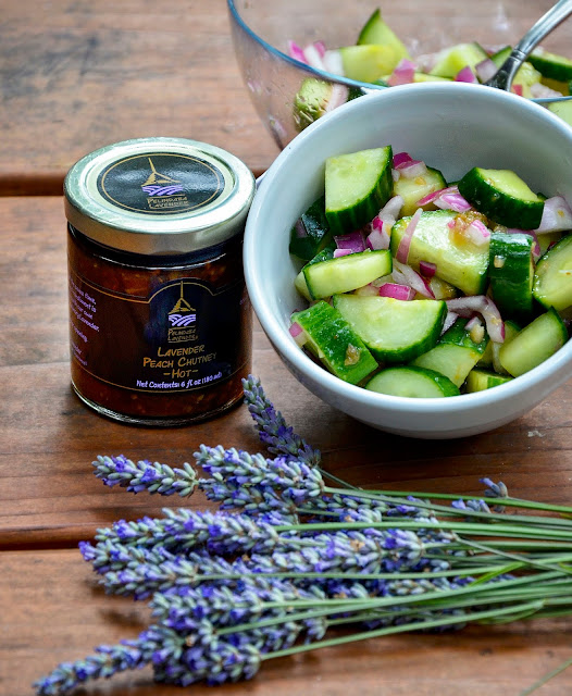 Lavender Summer Cucumber Salad from Pelindaba Lavender Farm