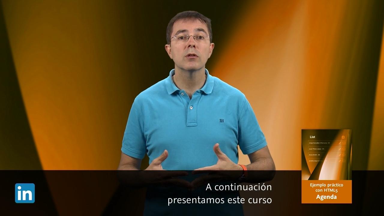 Introducción a HTML 5 agenda