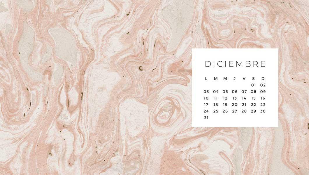 calendario bonito diciembre 2018