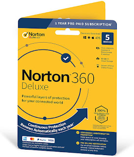 Norton 360 Deluxe – Antivirus Software for 5 Devices with Auto Renewal - Includes VPN, PC Cloud Backup & Dark Web Monitoring powered by LifeLock - 2020 Ready [Key Card] by Symantec Platform : Mac OS Sierra 10.12, Windows 8.1, Mac OS X El Capitan 10.11, Windows 10, Windows 7 4.2 out of 5 stars    286 ratings List Price: $89.99 Price: $26.98 You Save: $63.01 (70%) In Stock. This item does not ship to Nepal. Please check other sellers who may ship internationally. Learn more Ships from and sold by Amazon.com. Platform: Key Card [12 Month, with Auto-Renewal]  Download Code [12 Month, with Auto-Renewal] $27.99    Download Code [15 Month, with Auto-Renewal] $27.99    Key Card [12 Month, with Auto-Renewal] $26.98 Edition: 5 Device Ongoing protection: Install protection for upto 5 PCs, Macs, iOS & Android devices: A card with product key code will be mailed to you (select 'Download' option for instant activation code) Real time threat protection: Advanced security that helps defend against existing and emerging malware to your devices, and helps protect your private and financial information when you go online Secure VPN: Browse anonymously and securely with a no log VPN; Add bank grade encryption to help keep your information like passwords and bank details secure and private Dark Web monitoring: Powered by life lock we monitor and notify you if we find your personal information on the Dark Web 50GB Secure PC cloud backup: Automatic, secure PC cloud backup; store and help protect important files as a preventative measure to hard drive failures, stolen devices and even ransomware Pre paid subscription: A payment method must be saved in your Norton account to activate ,you won't be charged until the prepaid term ends; For new Norton subscriptions only at an introductory price Auto renewal: Never have a service disruption since this product auto renews annually; If you do not wish to renew, you can cancel in your Norton account anytime