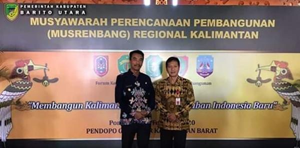 Wakil Bupati Barut Hadiri Musrenbang Regional Kalimantan Tahun 2020 Di Pontianak