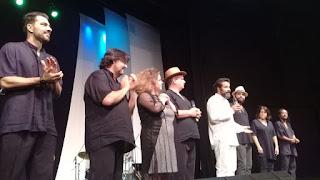 GONZAGUINHA - elenco reunido ao final da apresentação