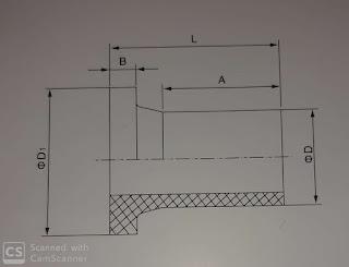 Detail ukuran stub end hdpe 160 mm / 6 inch