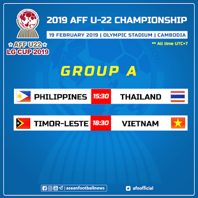 Live Streaming Timor Leste vs Vietnam AFF U22 19.2.2019