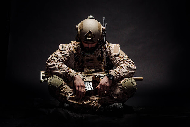 Special forces soldier with PTSD