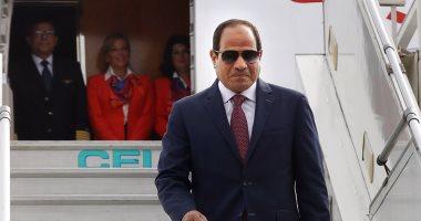 الرئيس السيسي يصل إلي الامارات ويستقبلة ولى عهد أبو ظبى