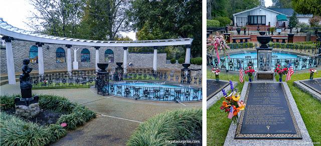jardim da Meditação, em Graceland, onde está o túmulo de Elvis Presley