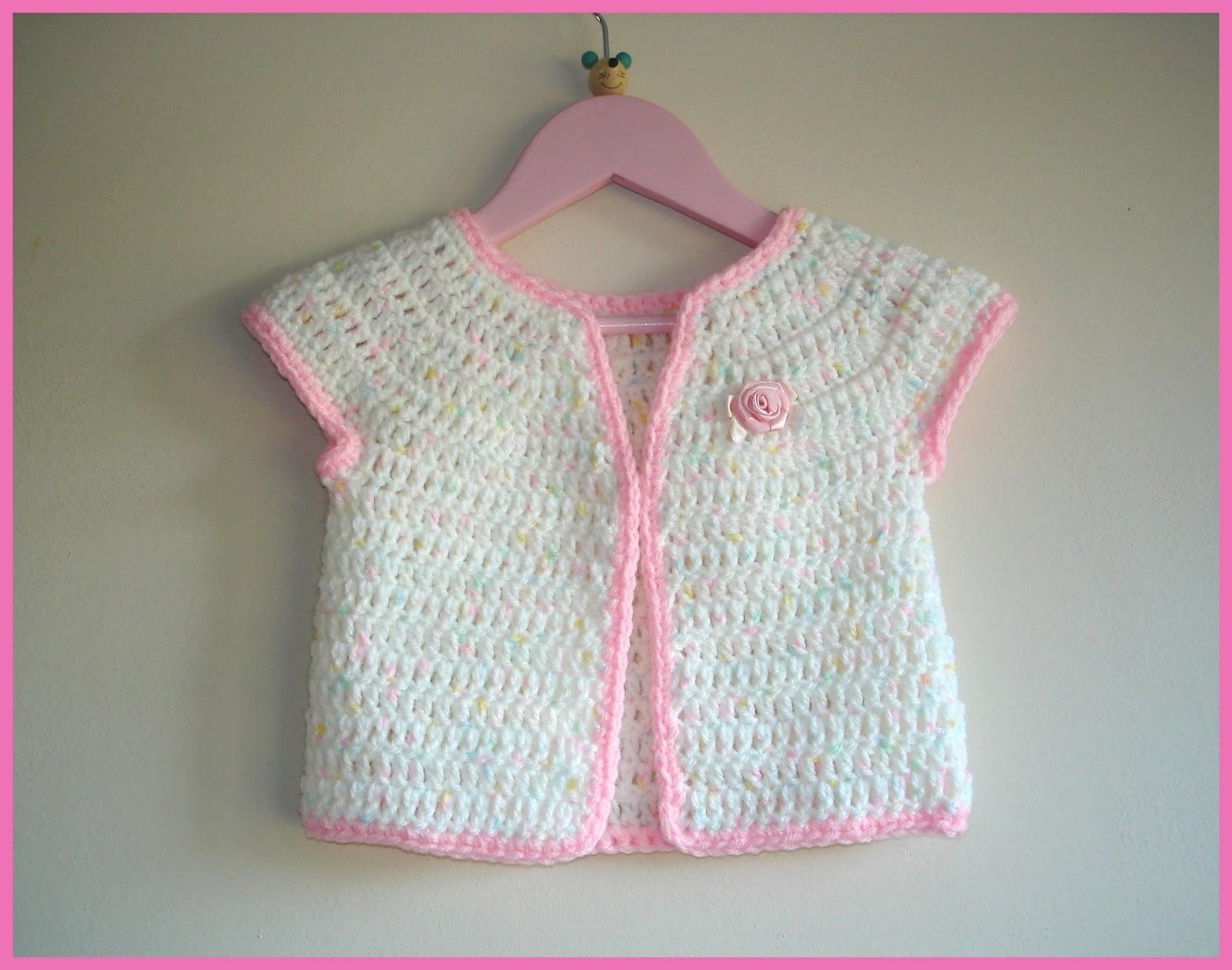 Mariannas Lazy Daisy Days Rosebud Baby Girl Cardigan Jacket