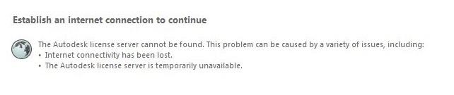Desktop Subscription Licensing Error: