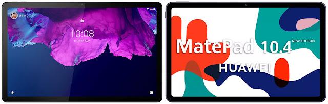 Lenovo Tab P11 vs Huawei MatePad 10.4 New