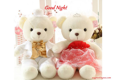 Good night with romantic teddy bear image pictures